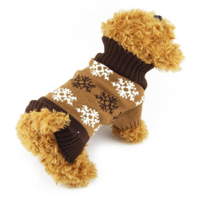 2PCS Cute Pet Dog Clothes Sweater Puppy Costume