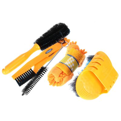 CYLION 1274 Bicycle Cleaning Tool Set 6 Pieces