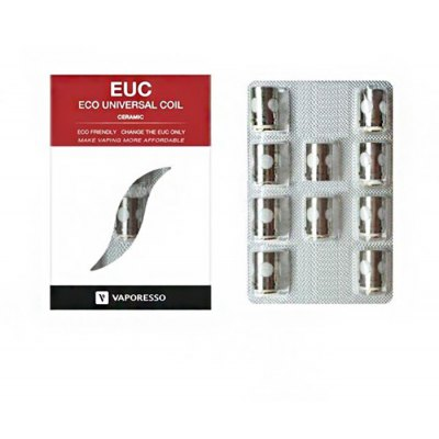 Original VAPORESSO Ceramic EUC 0.5 ohm Coil Head ( 10pcs / Pack )