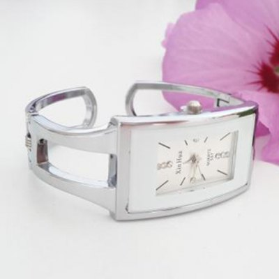 XinHua Quartz Watch with Diamond Dots and Strips Indicate Steel Watch Band