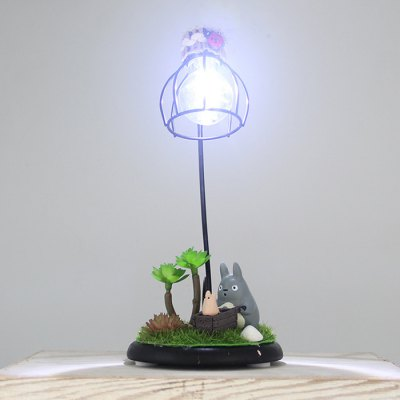 Animation Micro Landscape Figure Model with Night Light