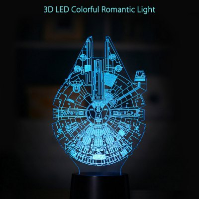 3D LED Lámpara de Luz Romántica Colorida
