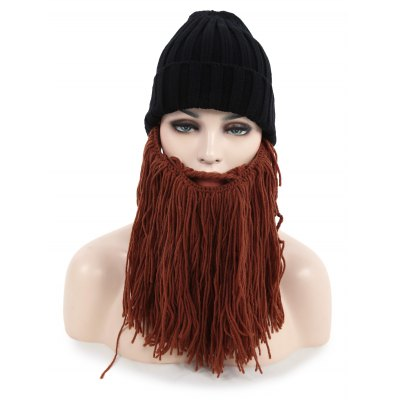 Creative Beard Winter Knitted Hat