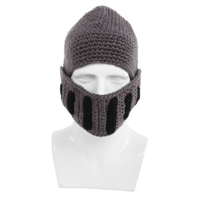 Creative Winter Knitted Hat with Gauze Mask