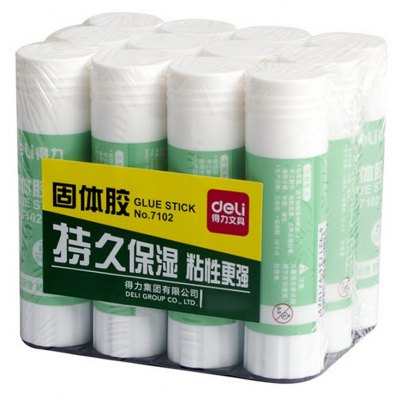 Deli 12PCS Solid Glue Stick Nontoxic PVA