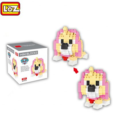 LOZ ABS 207Pcs Dog Shape Building Block Toy for Improving Social Cooperation Ability