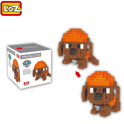 LOZ ABS 205Pcs Dog Shape Building Block Toy for Improving Social Cooperation Ability