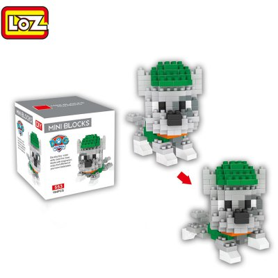 LOZ ABS 194Pcs Dog Shape Building Block Toy for Improving Social Cooperation Ability