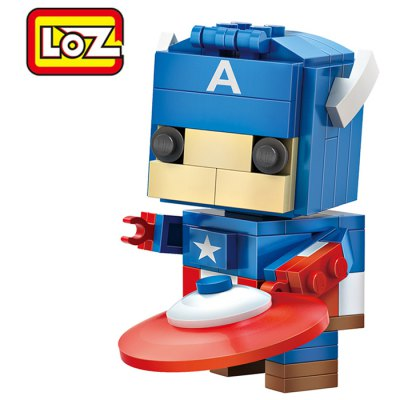 LOZ 142pcs ABS Hero Style Cartoon Building Block