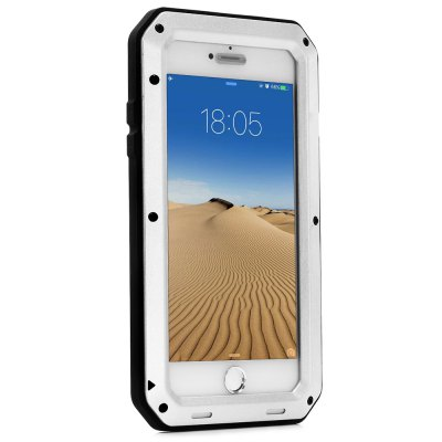 Stainless Steel Silicone Bumper Phone Case for iPhone 7 Plus