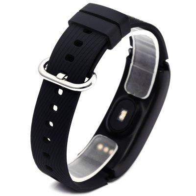 DF23 Bluetooth 4.0 Heart Rate Monitor Smart WristbandSmart Watches<br>DF23 Bluetooth 4.0 Heart Rate Monitor Smart Wristband<br><br>Alert type: Vibration<br>Band material: Silicone<br>Band size: 23.3 x 1.9 cm / 9.17 x 0.75 inches<br>Battery  Capacity: 80mAh<br>Bluetooth calling: Caller ID dispay,Callers name display,Phone call reminder<br>Bluetooth Version: Bluetooth 4.0<br>Built-in chip type: NRF51822<br>Case material: Aluminium<br>Charging Time: About 2hours<br>Compatability: Android 4.3 / iOS 8.0 and Above System<br>Compatible OS: Android, IOS<br>Dial size: 5.6 x 2.1 x 1.2 cm / 2.2 x 0.83 x 0.47 inches<br>Health tracker: Heart rate monitor,Pedometer,Sleep monitor<br>IP rating: IP68<br>Language: English,Simplified Chinese<br>Locking screen : 1<br>Messaging: Message reminder<br>Notification type: Wechat<br>Operating mode: Touch Screen<br>Other Function: Alarm<br>Package Contents: 1 x DF23 Smart Wristband, 1 x Charging Cable, 1 x Chinese and English User Manual<br>Package size (L x W x H): 15.40 x 8.70 x 3.00 cm / 6.06 x 3.43 x 1.18 inches<br>Package weight: 0.154 kg<br>People: Female table,Male table<br>Product size (L x W x H): 23.30 x 2.10 x 1.20 cm / 9.17 x 0.83 x 0.47 inches<br>Product weight: 0.026 kg<br>Screen: OLED<br>Shape of the dial: Rectangle<br>Standby time: About 7 Days<br>Type of battery: Li-polymer Battery<br>Waterproof: Yes