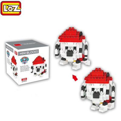 LOZ ABS 221Pcs Dog Style Building Block Toy for Improving Social Cooperation Ability