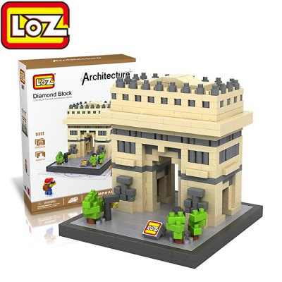 LOZ 9377 Arc de Triomphe Diamond Building Block - 640Pcs