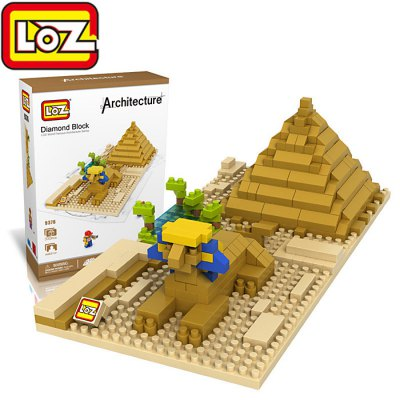 LOZ 9376 Sphinx Building Block Educational Toy 330Pcs - World Great Architecture Series