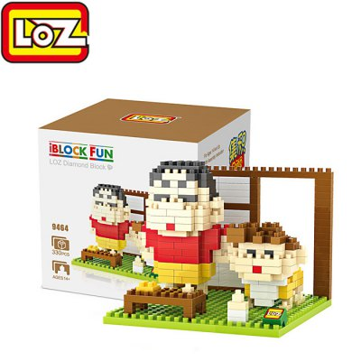 LOZ 9464 Crayon Shin-chan Diamond Building Block - 330Pcs