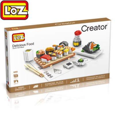 LOZ 1360Pcs 9392 Delicious Food Sushi Set Meal Building Block Toy
