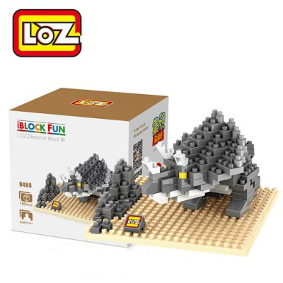 LOZ 180Pcs Jurassic Park 9486 Triceratops Figure Building Block Toy for Enhancing Social Cooperation Ability