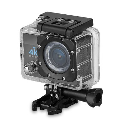 Q6 WiFi 4K Ultra HD Action Sport Camera US PlugAction Cameras<br>Q6 WiFi 4K Ultra HD Action Sport Camera US Plug<br><br>Model: Q6<br>Type: Sports Camera<br>Type of Camera: 4K<br>Max External Card Supported: TF 64G (not included)<br>Screen size: 2.0inch<br>Screen type: LCD<br>Screen resolution: 320x240<br>Battery Type: External<br>Battery Capacity (mAh): 900mAh<br>Power Supply: 5V 1A<br>Charge way: AC adapter,Car charger,USB charge by PC<br>Working Time: 120 minutes at 1080P<br>Standby time: 70 minutes<br>Charging time: 2h<br>Wide Angle: 170 degree wide angle<br>Camera Pixel : 16MP<br>Optical Zoom  : Yes<br>ISO: Auto,ISO100,ISO1600,ISO200,ISO400,ISO800<br>Lens Diameter: 17mm<br>Decode Format: H.264<br>Video format: MP4<br>Video Resolution: 1080P(30fps),1080P(60fps),2.7K (30fps),4K (30fps),720P (60fps),720P (90fps)<br>Video Frame Rate: 30FPS,60FPS,90fps<br>Image Format : JPEG<br>Audio System: Built-in microphone/speaker (AAC)<br>Exposure Compensation: +1,+2,+3,-1,-2,-3,0<br>White Balance Mode: Auto,Cloudy,Fluorescent,Incandescent,Sunny<br>Microphone: Built-in<br>WIFI: Yes<br>WiFi Function: Image Transmission,Remote Control,Settings,Sync and Sharing Albums<br>WiFi Distance : 5m<br>Waterproof: No<br>Waterproof Rating : No<br>Loop-cycle Recording : Yes<br>Night vision : Yes<br>Camera Timer: Yes<br>Time lapse: Yes<br>Auto Focusing: No<br>Anti-shake: No<br>Aerial Photography: No<br>Interface Type: HDMI,Micro USB<br>Language: Deutsch,English,French,Italian,Japanese,Korean,Polski,Russian,Simplified Chinese,Spanish,Traditional Chinese<br>Operating Temp.: -20 - 60 centigrade<br>Operating RH  : 5 - 95 percent<br>Product weight: 0.058 kg<br>Package weight: 0.584 kg<br>Product size (L x W x H): 5.90 x 4.10 x 2.90 cm / 2.32 x 1.61 x 1.14 inches<br>Package size (L x W x H): 27.00 x 16.00 x 6.00 cm / 10.63 x 6.3 x 2.36 inches<br>Package Contents: 1 x Sports Camera, 1 x Waterproof Housing + Mount + Screw, 1 x Handle Bar Mount, 1 x Quick Released Mount, 1 x J-shaped Mount, 1 x Connector, 3 x Screw, 1 x Tripod Mount, 1 x Tripod Mount Adapter, 1 x