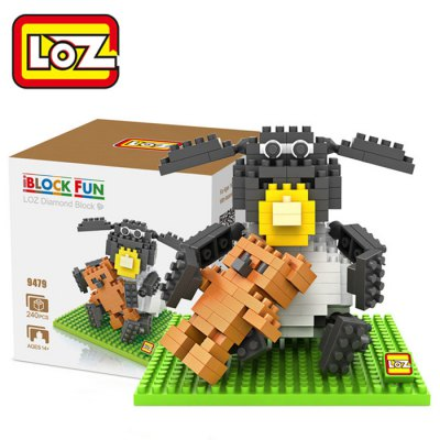 LOZ 240Pcs L- 9479 Shaun the Sheep Timmy Time Building Block Toy for Enhancing Social Cooperation Ability