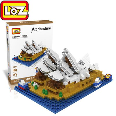 LOZ 9379 Sydney Opera House Diamond Building Block Educational Toy 520Pcs - World Great Architecture Series