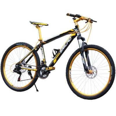 SMLRO MX850 26 inch 21 Speed Mountain BikeBikes<br>SMLRO MX850 26 inch 21 Speed Mountain Bike<br><br>Braking System: Double Disc Brake<br>Brand: SMLRO<br>Color: Blue,Green,Red,Yellow<br>Frame material: Aluminum Alloy<br>Model Number: MX850 21 Speed<br>Package Content: 1 x SMLRO MX850 26 inch 21 Speed Mountain Bike<br>Package size: 136.00 x 19.00 x 75.00 cm / 53.54 x 7.48 x 29.53 inches<br>Package weight: 18.530 kg<br>Product size: 166.00 x 86.00 x 23.00 cm / 65.35 x 33.86 x 9.06 inches<br>Product weight: 14.800 kg<br>Type: Mountain Bike<br>Wheel Size: 26 inches