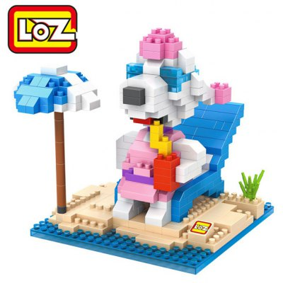 LOZ No. 9527 Snoopy Sunbath Diamond Block Toy Block Intelligent Toy Fun Game