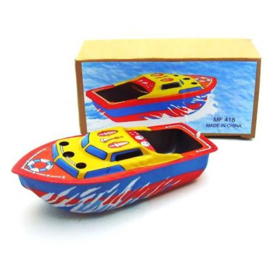 Collectible Handcraft Antique Tin Boat