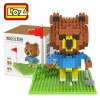 LOZ 310Pcs 9427 Brown Bear Golf Building Block Toy for Enhancing Social Cooperation Ability