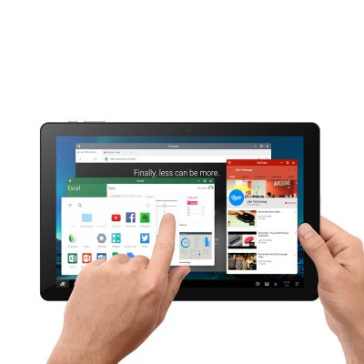 CHUWI HI10 PLUS Tablet PCTablet PCs<br>CHUWI HI10 PLUS Tablet PC<br><br>Brand: CHUWI<br>Type: Tablet PC<br>OS: Remix OS 2.0,Windows 10<br>CPU Brand: Intel<br>CPU: Intel Atom X5-Z8350<br>GPU: Intel HD Graphics 400<br>Core: 1.44GHz,Quad Core<br>RAM: 4GB<br>ROM: 64GB<br>External Memory: TF card up to 128GB (not included)<br>Support Network: WiFi<br>WIFI: 802.11b/g/n wireless internet<br>Bluetooth: Yes<br>Screen type: Capacitive (10-Point),IPS<br>Screen size: 10.8 inch<br>Screen resolution: 1920 x 1280<br>Camera type: Dual cameras (one front one back)<br>Back camera: 2.0MP<br>Front camera: 2.0MP<br>TF card slot: Yes<br>Type-C: Yes<br>Micro USB Slot: Yes<br>Micro HDMI: Yes<br>3.5mm Headphone Jack: Yes<br>Docking Interface: Support<br>Battery Capacity(mAh): 3.7V/8400mAh<br>AC adapter: 100-240V 5V 3A<br>G-sensor: Supported<br>Skype: Supported<br>Youtube: Supported<br>Speaker: Built-in Dual Channel Speaker<br>MIC: Supported<br>Google Play Store: Supported<br>Picture format: BMP,GIF,JPEG,JPG,PNG<br>Music format: 3GP,AAC,MA4,MP3,OGG,WAV,WMA<br>Video format: 3GP,AVI,MJPEG,MP4,WMA<br>E-book format: PDF,TXT<br>Pre-installed Language: Windows OS supports Chinese and cutomers can download multiple languages by connecting WiFi. Remix OS supports multi-language<br>Additional Features: Bluetooth,HDMI,MP3,MP4,WAP,Wi-Fi<br>Product size: 27.64 x 18.48 x 0.85 cm / 10.88 x 7.28 x 0.33 inches<br>Package size: 37.30 x 22.60 x 5.40 cm / 14.69 x 8.9 x 2.13 inches<br>Product weight: 0.686 kg<br>Package weight: 1.360 kg<br>Tablet PC: 1<br>Charger: 1<br>Type-C Cable: 1