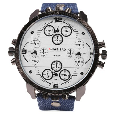 SHIWEIBAO A1165 Casual Four Movt Men Quartz Watch