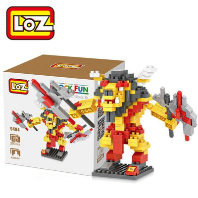 LOZ L - 9494 Warcraft Tauren Chieftain Micro Diamond Building Block 290Pcs Educational Toy