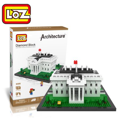 LOZ 1170Pcs 9386 The White House Building Block Educational Toy for Cooperative Ability - World Great Architecture Series