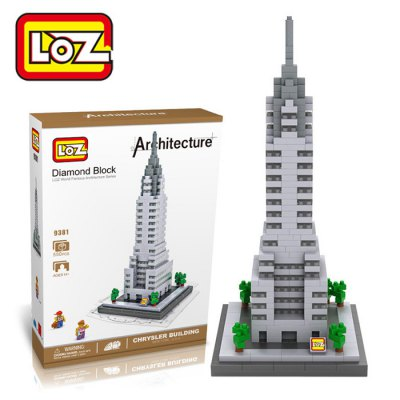 LOZ 550Pcs 9381 Chrysler Building Assembling Block Educational Toy for Cooperative Ability - World Great Architecture Series
