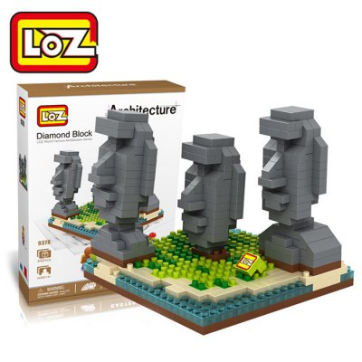 LOZ 440Pcs 9378 Easter Island Building Block Educational Toy for Cooperative Ability - World Great Architecture Series