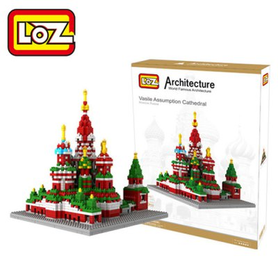 LOZ 1860Pcs 9375 Vasily Cathedral Building Block Educational Toy for Cooperative Ability - World Great Architecture Series