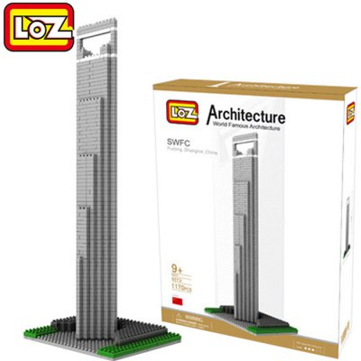 LOZ 1170Pcs 9372 Shanghai Financial Center Building Block