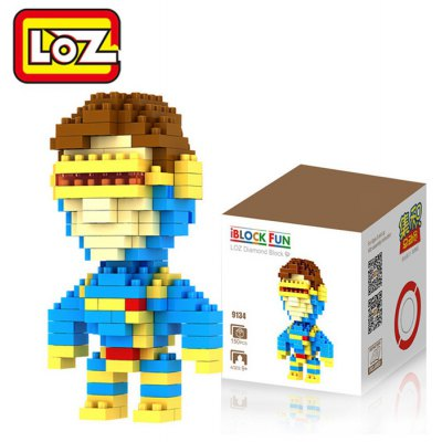 LOZ 150Pcs M - 9134 X-men Cyclops Building Block Educational Boy Girl Gift for Spatial Thinking