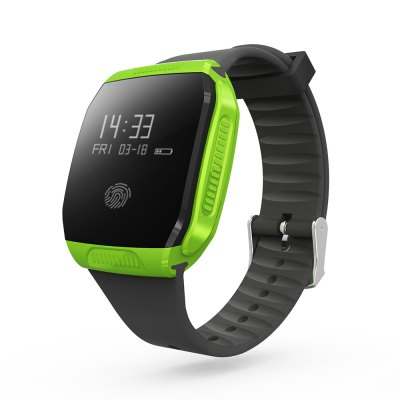 LEMFO E07S BLE 4.0 GPS Sports Tracking Smart WristbandSmart Watches<br>LEMFO E07S BLE 4.0 GPS Sports Tracking Smart Wristband<br><br>Brand: LEMFO<br>Bluetooth version: Bluetooth 4.0<br>Waterproof: Yes<br>IP rating: IP67<br>Health tracker: Sedentary reminder,Sleep monitor<br>Remote control function: Remote Camera,Remote music<br>Notification: Yes<br>Notification type: Facebook,Twitter,WhatsApp<br>Anti-lost: Yes<br>Alert type: Vibration<br>Other function: Alarm,GPS<br>Screen: OLED<br>Operating mode: Touch Screen<br>Type of battery: Li-ion Battery<br>Battery Capacty: 90mAh<br>People: Female table,Male table<br>Shape of the dial: Square<br>Case material: ABS<br>Band material: TPU<br>Compatible OS: Android,IOS<br>Compatability: Android 4.3 / iOS 7.0 and Above System<br>Available color: Black,Green<br>Dial size: 3.8 x 3.8 x 1 cm / 1.5 x 1.5 x 0.39 inches<br>Band size: 24 x 2 cm / 9.45 x 0.79 inches<br>Wearing diameter: 17 - 22 cm / 6.69 - 8.66 inches<br>Product size (L x W x H): 24.00 x 3.80 x 1.00 cm / 9.45 x 1.5 x 0.39 inches<br>Package size (L x W x H): 11.00 x 7.50 x 5.50 cm / 4.33 x 2.95 x 2.17 inches<br>Product weight: 0.026 kg<br>Package weight: 0.145 kg<br>Package Contents: 1 x LEMFO E07S Smart Wristband, 1 x Charging Cable, 1 x English User Manual