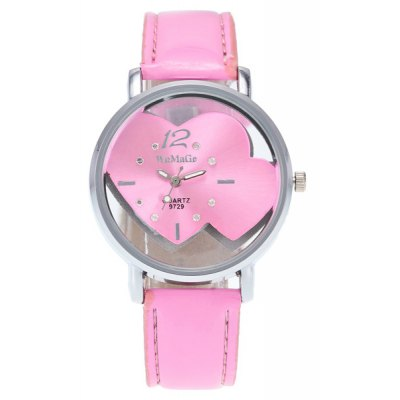Rhinestone Double Heart Quartz Watch