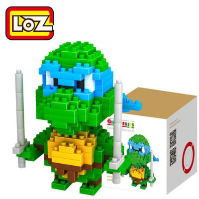 LOZ 210Pcs M - 9151 Teenage Mutant Ninja Turtles Leonardo Building Block Educational Assembling Boy Girl Gift for Spatial ThinkingBlock Toys<br>LOZ 210Pcs M - 9151 Teenage Mutant Ninja Turtles Leonardo Building Block Educational Assembling Boy Girl Gift for Spatial Thinking<br><br>Age: 9 Years+<br>Applicable gender: Unisex<br>Brand: LOZ<br>Character Name: Leonardo<br>Design Style: Cartoon<br>Features: DIY<br>Material: ABS<br>Package Contents: 210 x Module, 1 x User Manual<br>Package size (L x W x H): 7.50 x 7.50 x 7.50 cm / 2.95 x 2.95 x 2.95 inches<br>Package weight: 0.0650 kg<br>Product Model: M - 9151<br>Product prototype: Teenage Mutant Ninja Turtles<br>Puzzle Style: 3D Puzzle<br>Small Parts : Yes<br>Type: Building Blocks<br>Washing: Yes