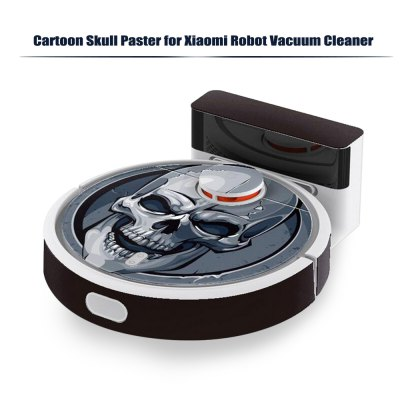 STICKERBOMB Skull Paster for Xiaomi Robot CleanerRobot Vacuum Accessories<br>STICKERBOMB Skull Paster for Xiaomi Robot Cleaner<br><br>Package Contents: 1 x Paster<br>Package size (L x W x H): 4.00 x 4.00 x 46.00 cm / 1.57 x 1.57 x 18.11 inches<br>Package weight: 0.1590 kg<br>Product size (L x W x H): 59.00 x 45.00 x 0.10 cm / 23.23 x 17.72 x 0.04 inches<br>Product weight: 0.1090 kg