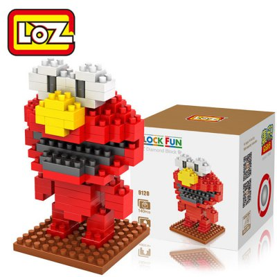 LOZ 140Pcs M - 9120 Sesame Street Elmo Building Block Educational Toy for Brain Thinking