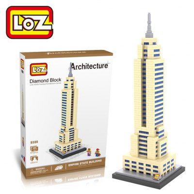 LOZ 820PCS 9388 Empire State Building Assembling Block Educational Toy for Cooperative Ability - World Great Architecture Series