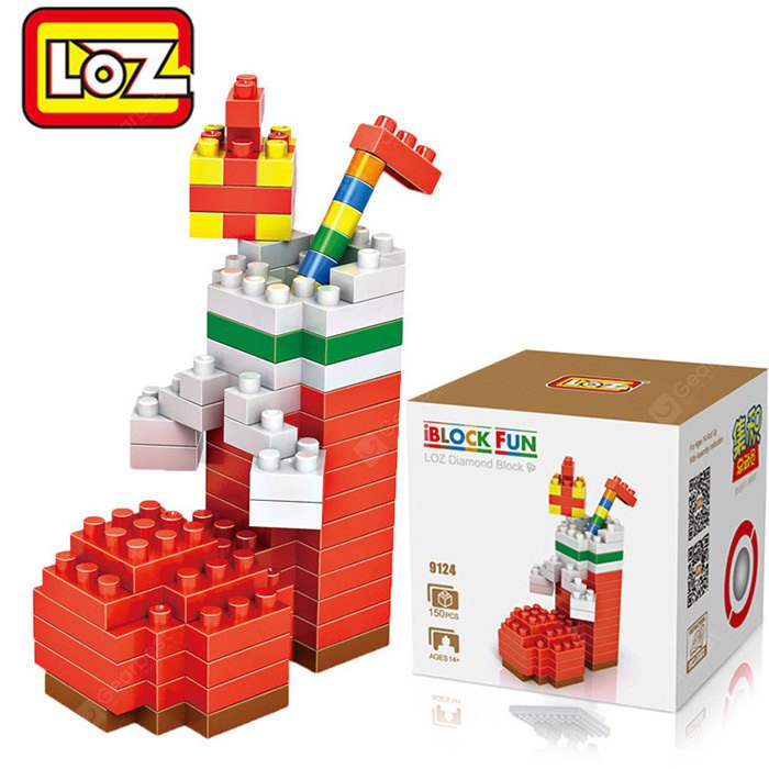 Buy LOZ 15M - 9124 Christmas Sock Building Block Educational Toy Brain Thinking RED