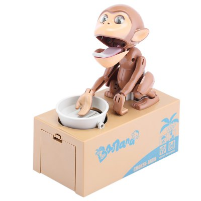 Innovative Eat Coin Monkey Piggy Bank / Money Pot Birthday Gift for Coins Collection