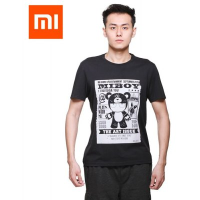 Xiaomi Fashion Bear Rabbit Short Sleeves T-shirt for Outdoor Sports