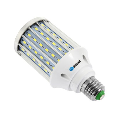 BRELONG 20W LED Corn BulbCorn Bulbs<br>BRELONG 20W LED Corn Bulb<br><br>Available Light Color: Warm White,White<br>Brand: BRELONG<br>CCT/Wavelength: 3000-3500K,6000-6500K<br>Emitter Types: SMD 5730<br>Features: Low Power Consumption, Long Life Expectancy<br>Function: Studio and Exhibition Lighting, Home Lighting, Commercial Lighting<br>Holder: B22,E27<br>Luminous Flux: 2000LM<br>Output Power: 20W<br>Package Contents: 1 x BRELONG LED Corn Bulb<br>Package size (L x W x H): 15.50 x 7.50 x 7.50 cm / 6.1 x 2.95 x 2.95 inches<br>Package weight: 0.192 kg<br>Product size (L x W x H): 14.50 x 6.50 x 6.50 cm / 5.71 x 2.56 x 2.56 inches<br>Product weight: 0.155 kg<br>Sheathing Material: PC, Aluminum<br>Total Emitters: 108<br>Type: Corn Bulbs<br>Voltage (V): AC 85-265