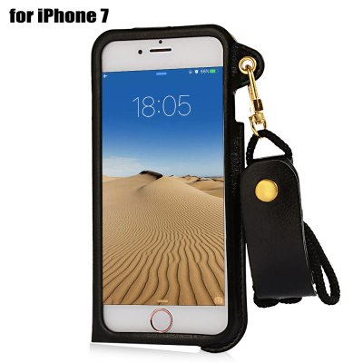 Creative PU Leather Protective Phone Back Case for iPhone 7