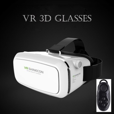 VR SHINECON 3D VR Glasses with B100 Remote Control