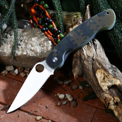 PA60 Liner Lock Folding Knife with G10 Handle